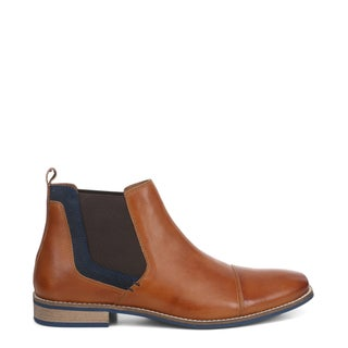Crown Leather Chelsea Boots