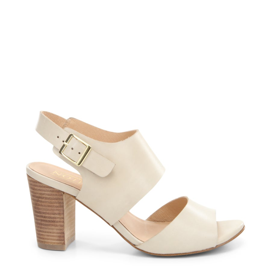 Eden Leather Block Heels